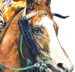 Winner Take all detail equine art