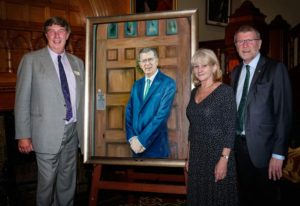 Chancellor-James-Harris-with-John-Watkins-+-portrait artist-Kristin-Hardiman